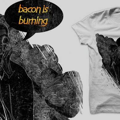 bacon is burning