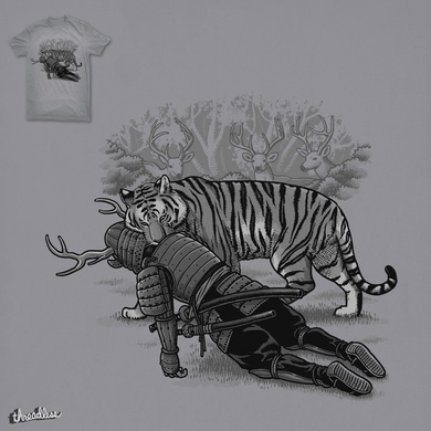 Tiger Eats The Deer