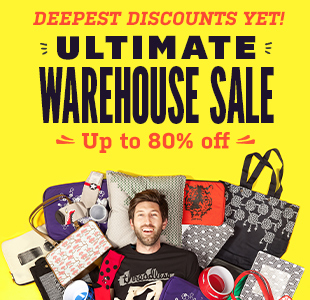 Save Up to 80% OFF Ultimate Warehouse Sale at Threadless.com