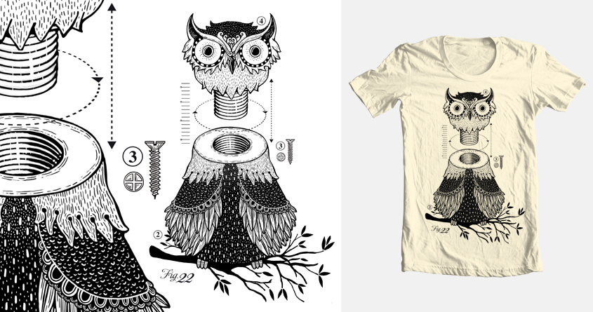 Unscrewed owl by montt on Threadless