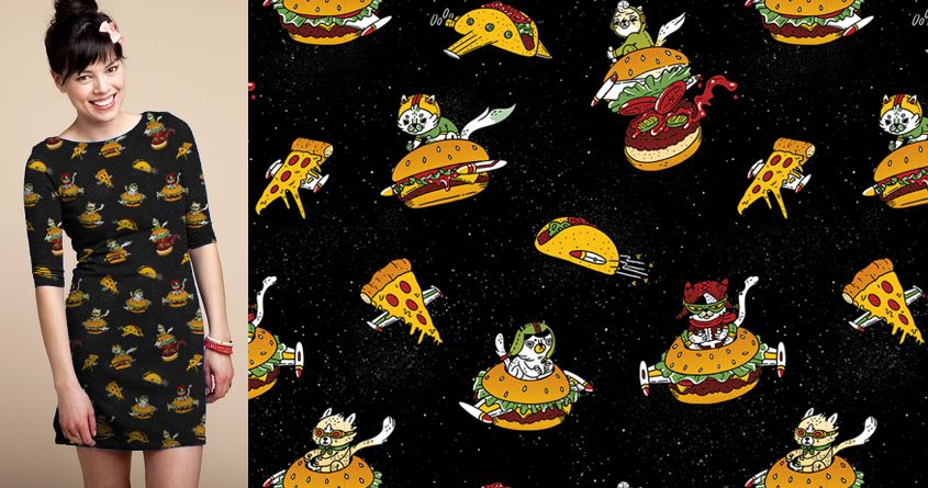 I Can Haz Cheeseburger Spaceships? by PeculiarTiffany on Threadless