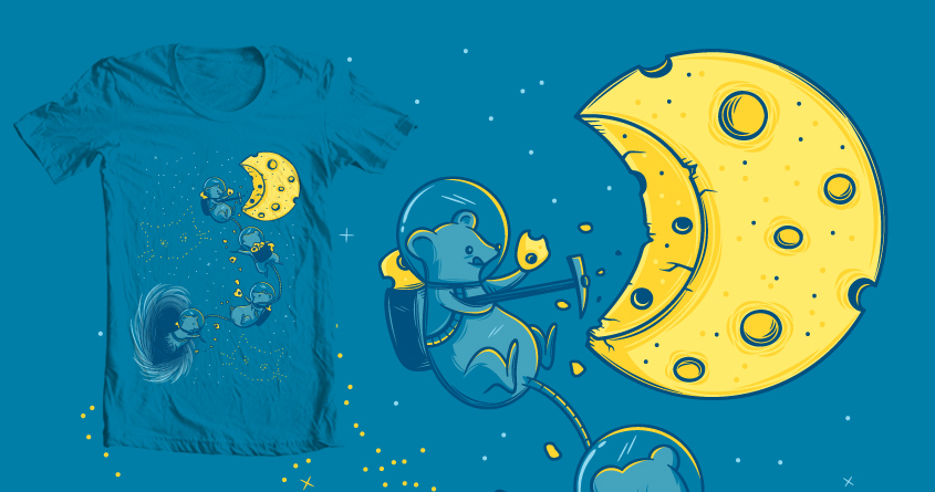 Black (Mouse) Hole by FRICKINAWESOME and gebe on Threadless