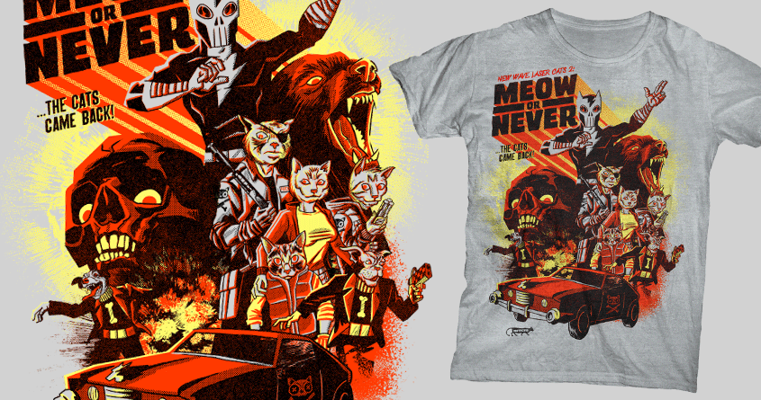 NWLC2: Meow or Never by r.o.b.o.t.i.c.octopus on Threadless