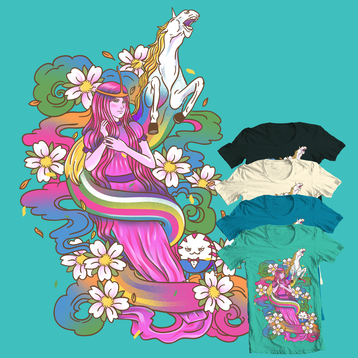 Psychedelic Princess of CandyLand by dandingeroz and xiaobaosg on Threadless