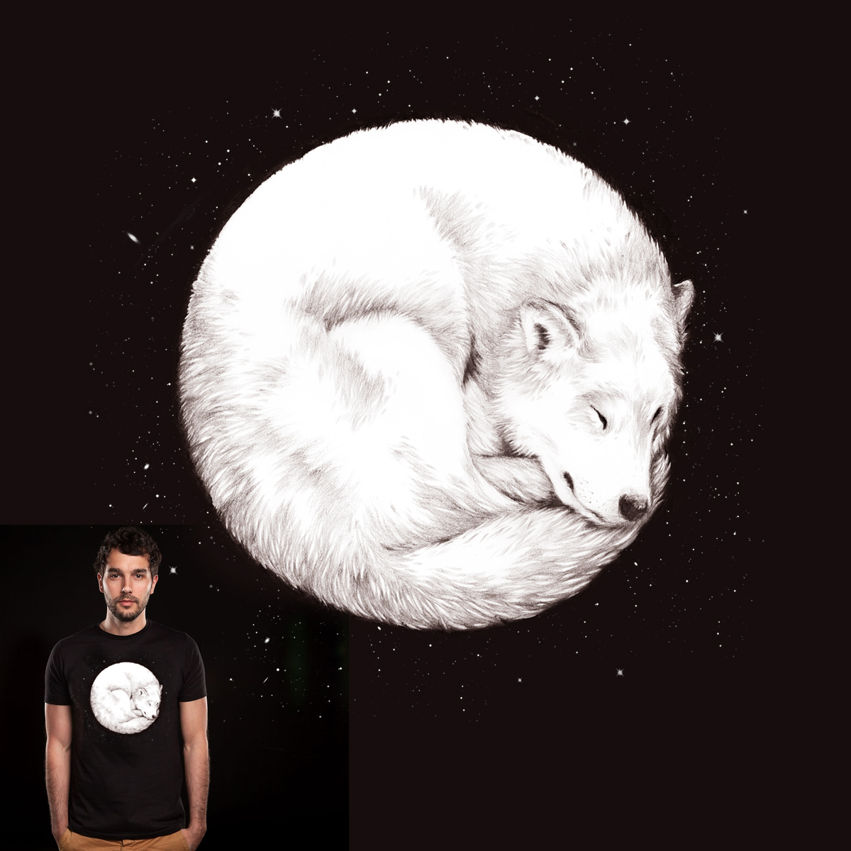 The howl of the moon by DanielTeixeira on Threadless