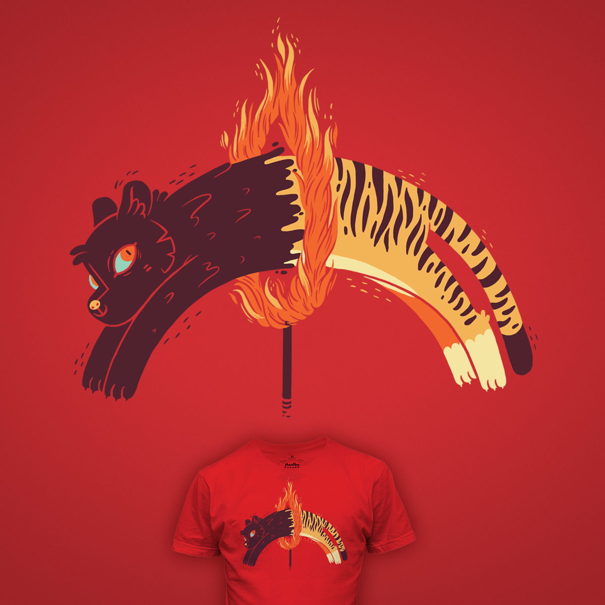 Pouncing Through Fire by PeculiarTiffany on Threadless
