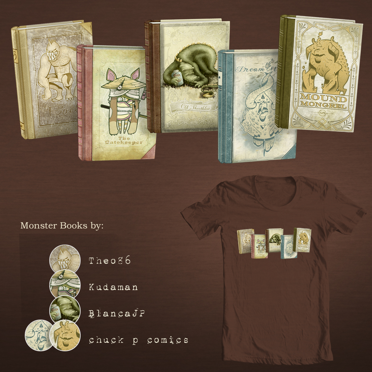 Monster Books by BlancaJP and chuck p comics on Threadless