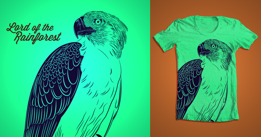 Score lord of the rainforest by aaron alvarez on threadless for Philippines t shirt design