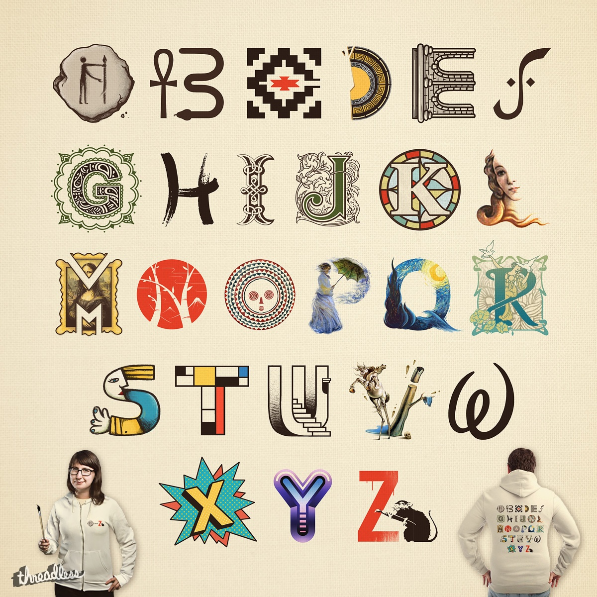 A-Z Art History by FRICKINAWESOME and buko on Threadless