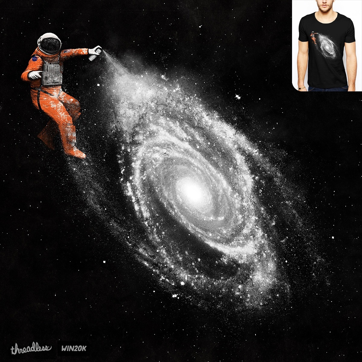 Space art a cool t shirt by speakerine on threadless for Space art design
