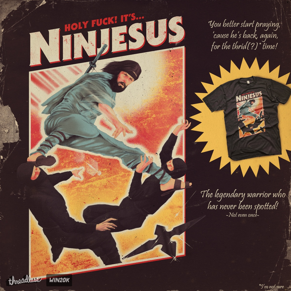 Ninjesus by mathiole and hafaell on Threadless